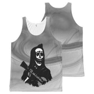 Smokey Guitar Skeleton Serenade All-Over-Print Tank Top