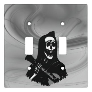 Smokey Guitar Skeleton Serenade Light Switch Cover