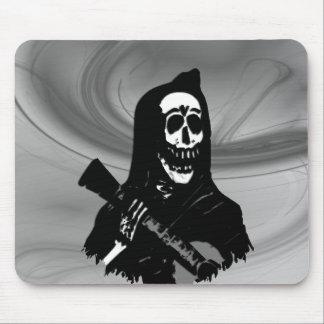 Smokey Guitar Skeleton Serenade Mouse Pad