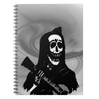 Smokey Guitar Skeleton Serenade Notebook