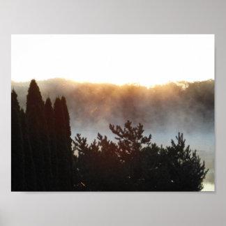 Smokey Morning Glory Poster