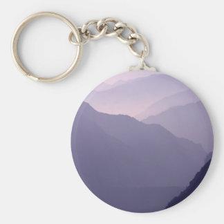 Smokey Mountains Haze Basic Round Button Keychain