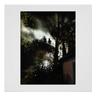 Smokey Night Scene Photo Poster