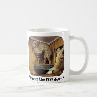 """Smokey the bobcat says """"Simmer Down."""" Coffee Mug"""