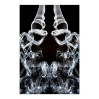 Smokey Waves Poster