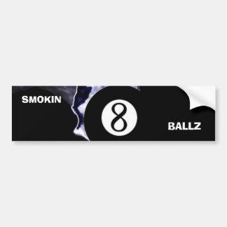 Smokin 8 Ballz bumper sticker