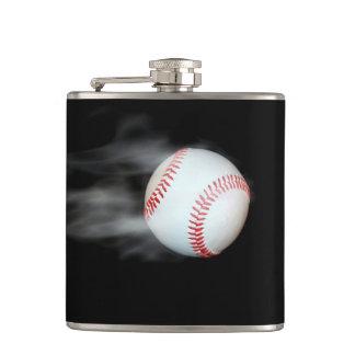 Smokin Baseball Hip Flask