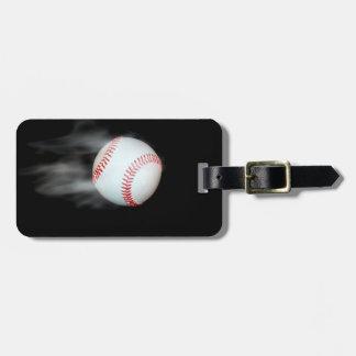 Smokin Baseball Luggage Tag