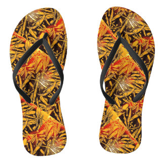 Smokin' chili peppers flip flops