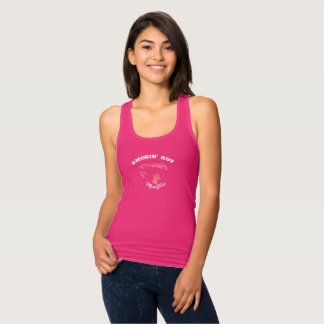 Smokin' Hot MomFire Racerback Tank Top- Dark