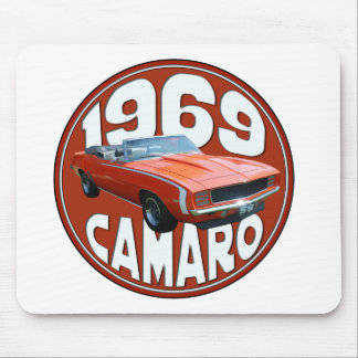 Smokin Orange 1969 Camaro SS Rag Top Mouse Pad