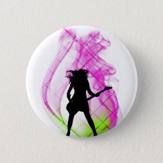 Smokin' Pink 2 Inch Round Button