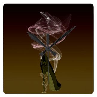 Smokin' Stiletto High Heel Art Square Wall Clock