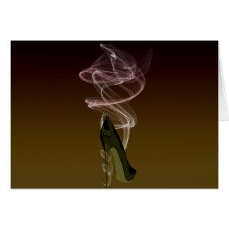 Smokin' Stiletto Shoe Art Card