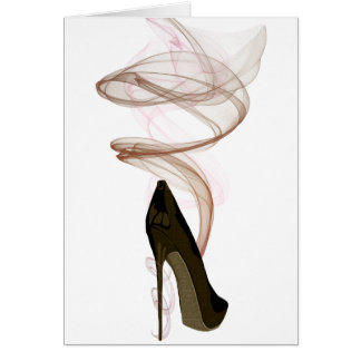 Smokin Stiletto Shoe Art Card