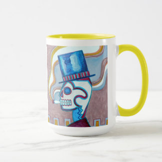 Smoking a Monte Alban, by Nancy Glenn Nieto Mug