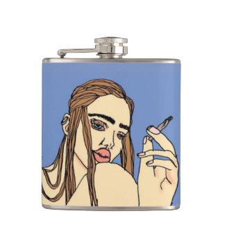 Smoking Babe Hip Flask