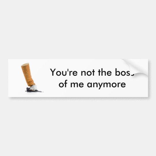 Smoking Boss Bumper Sticker