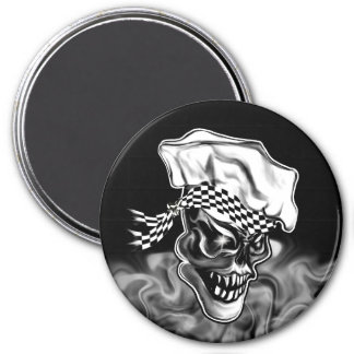 Smoking Chef Skull 5 Magnet