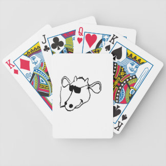 Smoking Cow with Sunglasses Bicycle Playing Cards