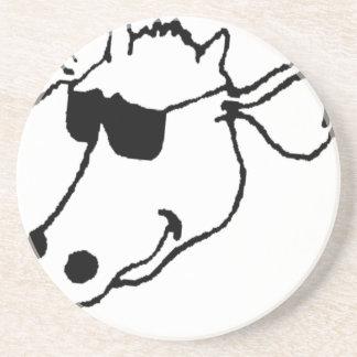 Smoking Cow with Sunglasses Coaster