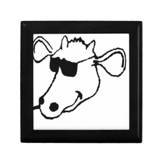Smoking Cow with Sunglasses Gift Box