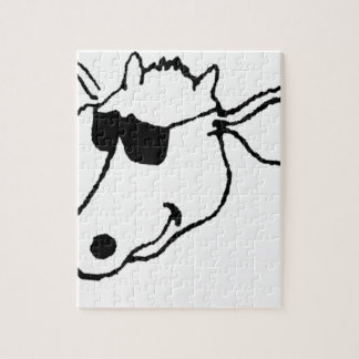 Smoking Cow with Sunglasses Jigsaw Puzzle