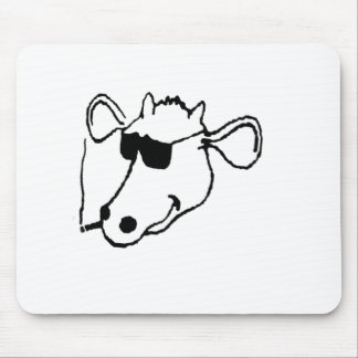 Smoking Cow with Sunglasses Mouse Pad