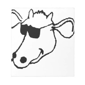 Smoking Cow with Sunglasses Notepad