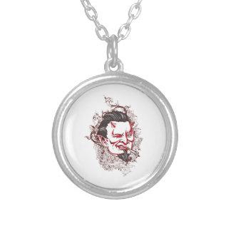 Smoking Devil Round Pendant Necklace