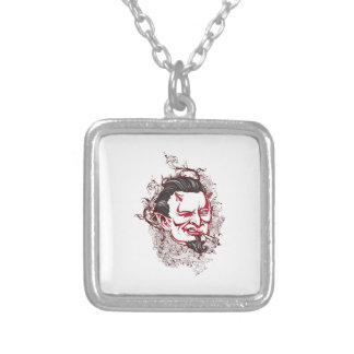 Smoking Devil Square Pendant Necklace