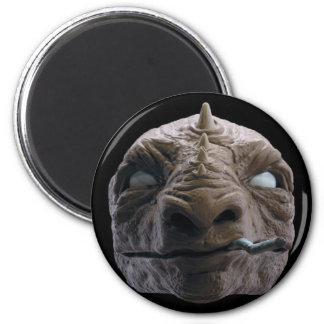 Smoking dinosaur magnet