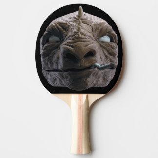 Smoking dinosaur ping pong paddle