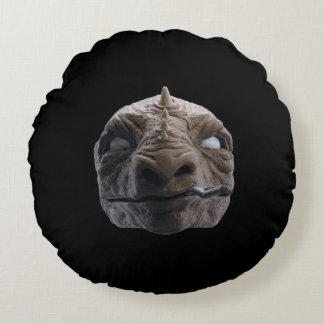 Smoking dinosaur round pillow