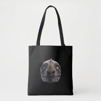 Smoking dinosaur tote bag