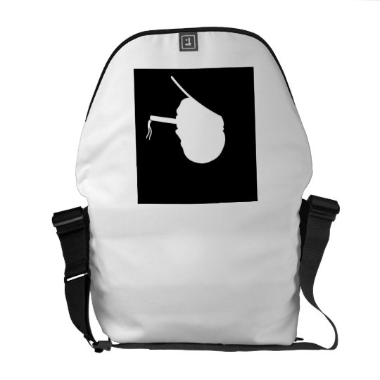 Smoking Gangster Medium Messenger Bag