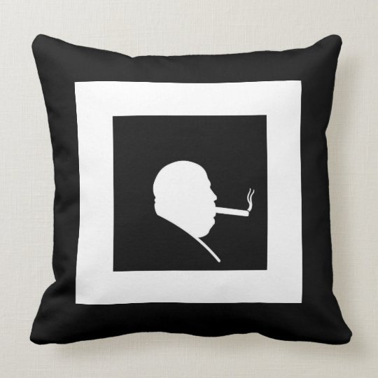 Smoking Gangster Throw Pillow