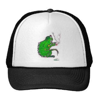 Smoking Green Monster Trucker Hat