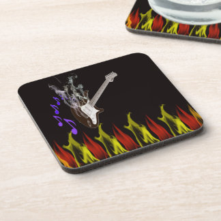 Smoking Guitar Coaster set