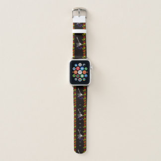Smoking Guitar with Flames Apple Watch Band