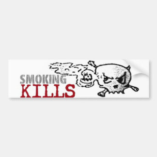 Smoking Kills Bumpersticker Bumper Sticker