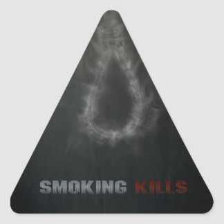 Smoking Kills Hanging Rope Triangle Sticker