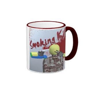 Smoking Kills Ringer Coffee Mug