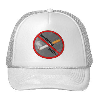 smoking kills trucker hat