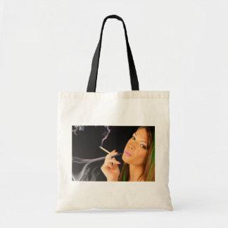 Smoking Lady - Neon Effects