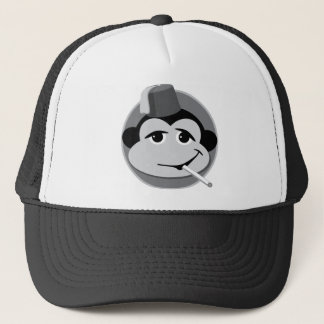 smoking monkey trucker hat