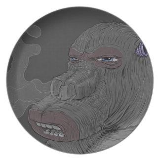 smoking monster plate