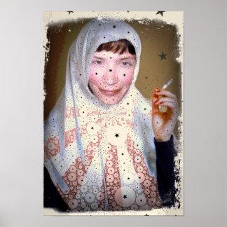 Smoking Nun Canvas Print