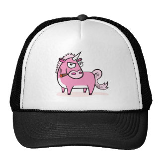 Smoking Pink Unicorn Hat