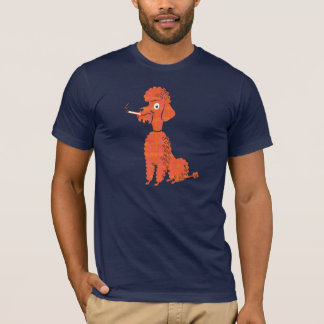 Smoking Poodle T-Shirt